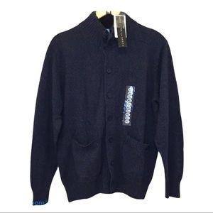 NWT Oscar De La Renta Men's Midnight Blue sweater